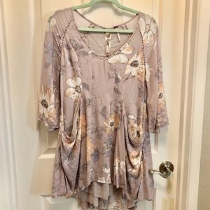 Free People Floral Drapey Tunic 2